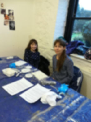 One Day Mosaic Workshop mum and daughter