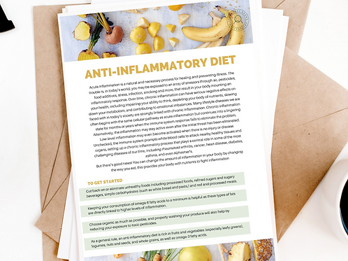 Anti-inflammatory Eating - Simple Guidelines