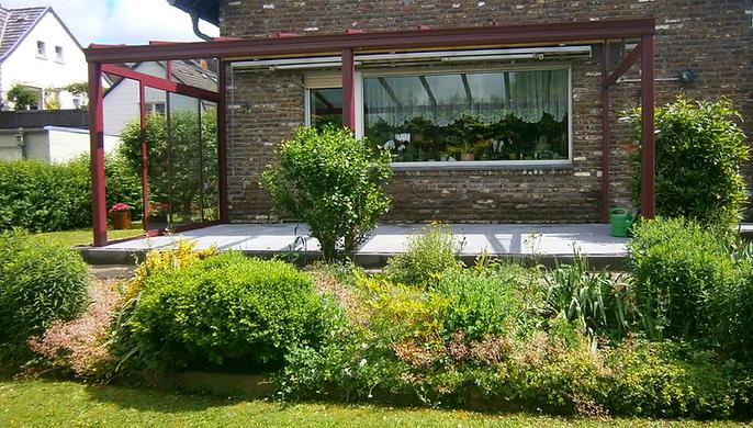 Terrassendach Castrop-Rauxel, Terrassenüberdachung in Castrop-Rauxel mit Glas und Alu, zum weiteren Ausbau als Wintergarten geeignet,Preise Angebote Kosten