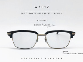 The optometrist Expert l Review Masunaga Kenzo - Orion x Essilor varilux x series