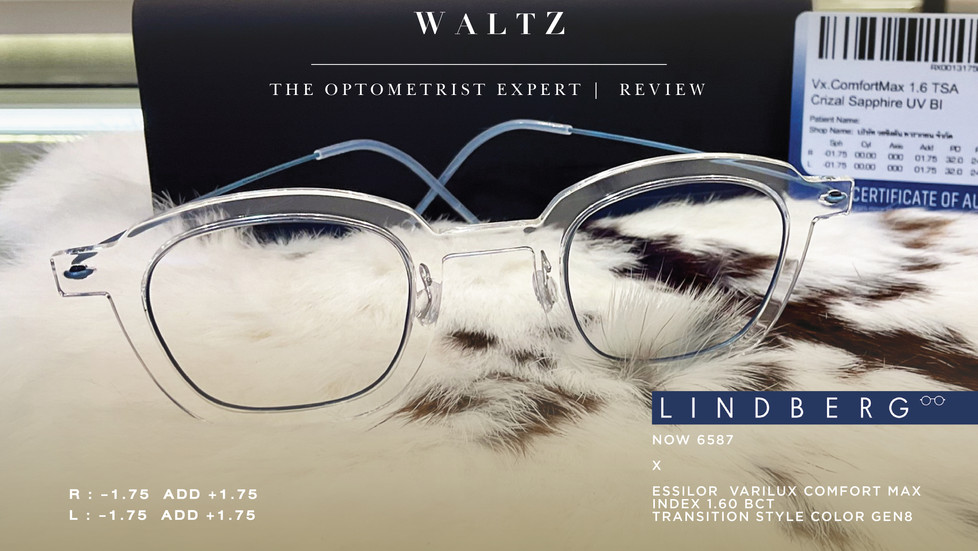 WALTZ - the optometrist Expert l Review Lindberg Now 6587 x Essilor  varilux comfort max