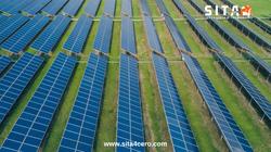 Panel solar inspección con drones