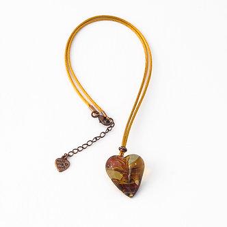 coeur transparent ambre et couleurs