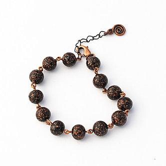 bracelet noir pailleté