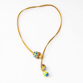 collier 3 perles multicolor