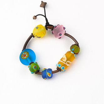 bracelet élastique multicolore