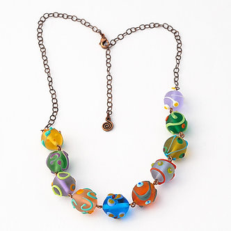 collier en verre dépoli