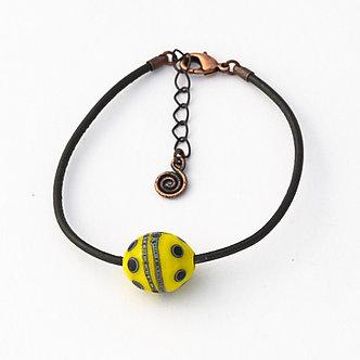 bracelet jaune et noir