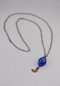 pendentif baroque bleu
