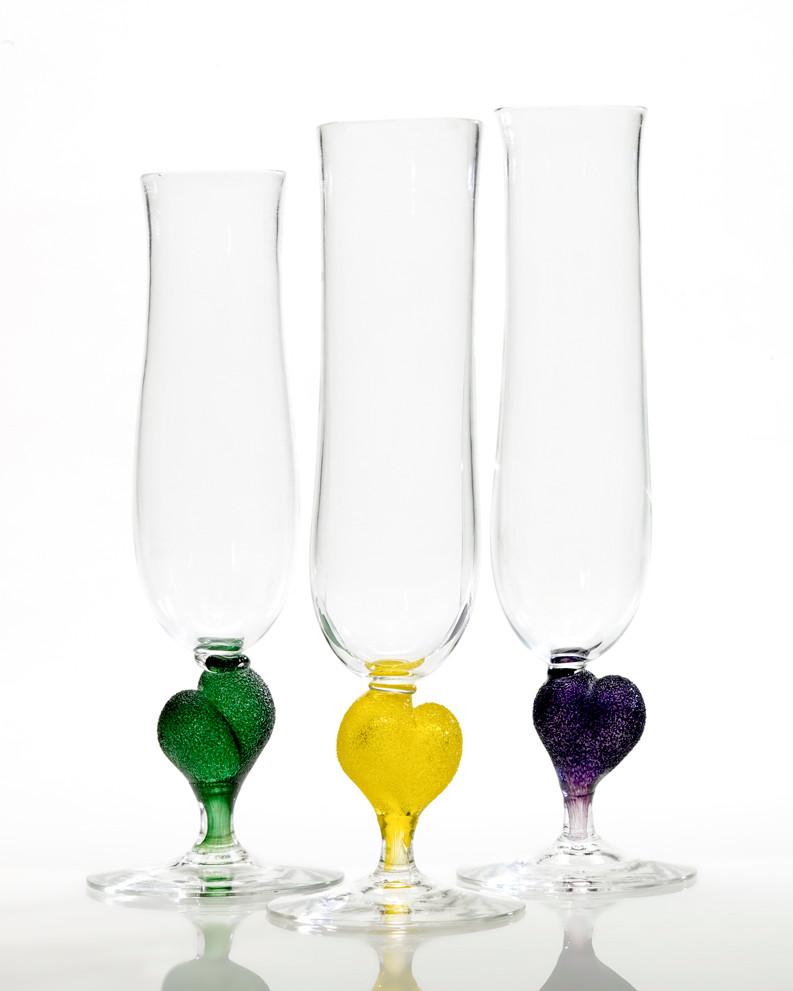 Hjerte champagneglass - en fin gave i bryllup eller til en du bryr deg spesielt om