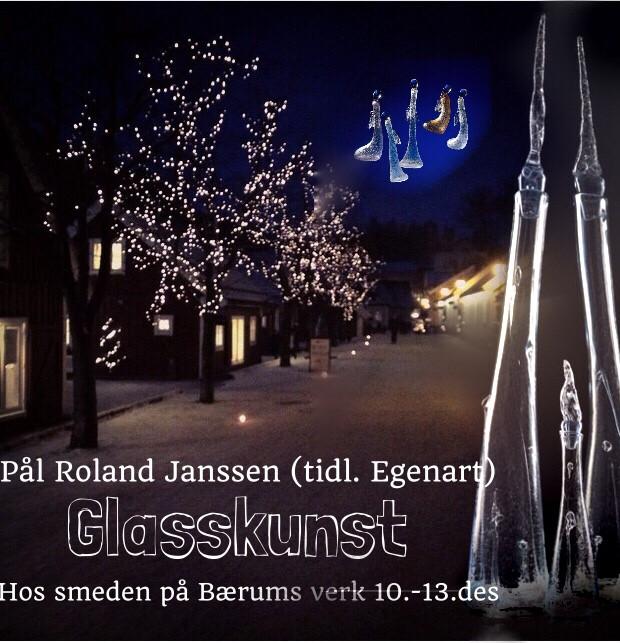 bærums verk pop-opp-galleri glasskunst Egenart 10.-13.desember