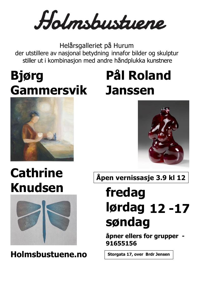 Glassskulpturer i Holmsbustuene 3.-29.sept