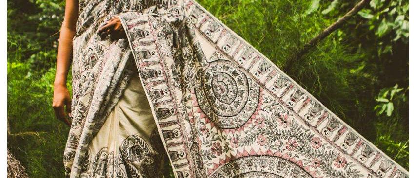 Godna and Sujni Full Work Silk Saree