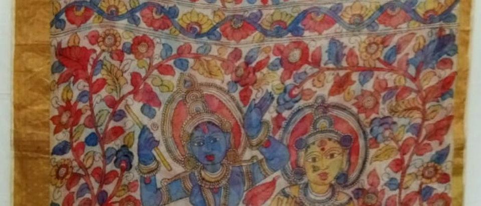 Multi Color Kalamkari Kota silk Saree