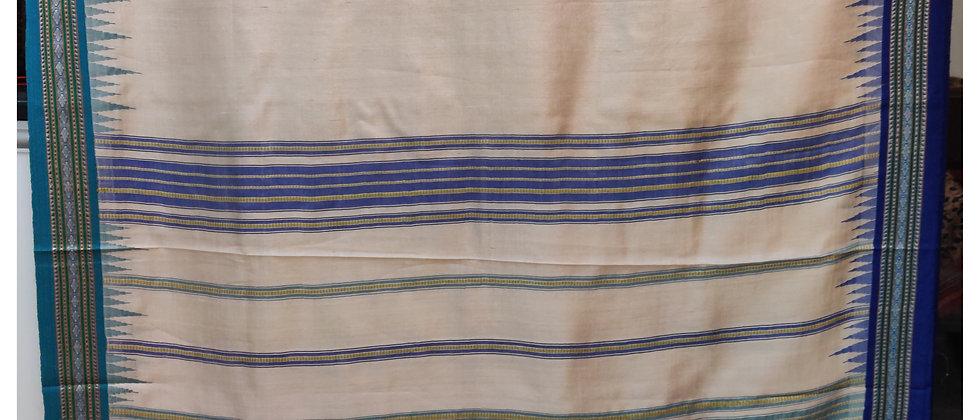 Blue Natural Vidrabha Karvati Silk Saree