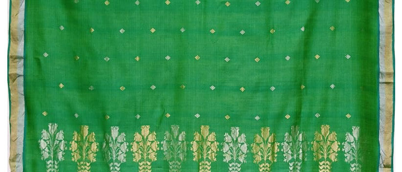 Green Kosa Silk Zari Work Handloom Saree