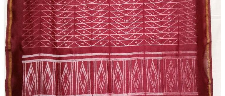 Shibori Work Chanderi Cotton Saree