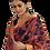 Thumbnail: Pink-Blue Hand Painted Kalamkari Kota Silk Saree