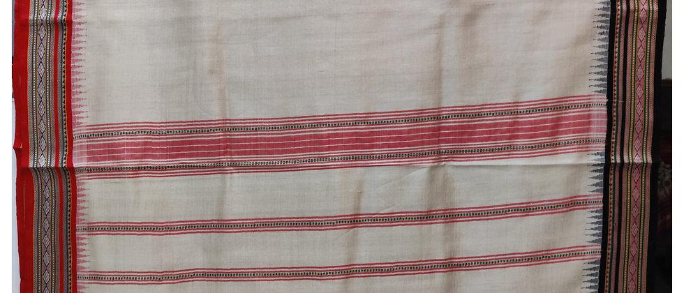 Red and Black Ganga Jamuna Vidrabha Karvati Silk Saree