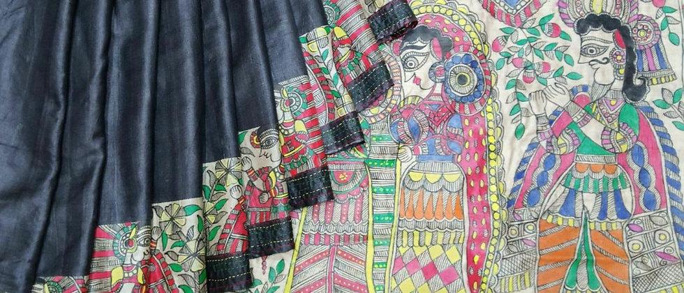 Siya Ram Vivah with Madhubani Multicolour work