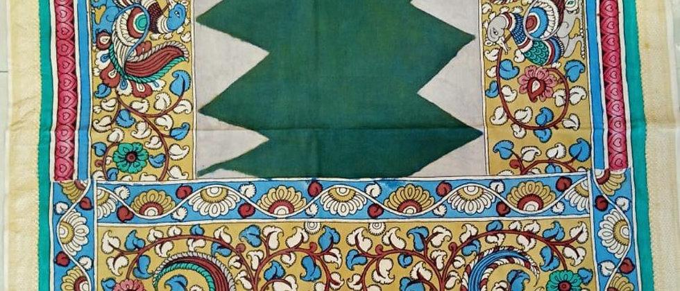 Green Beige Kalamkari Dupatta