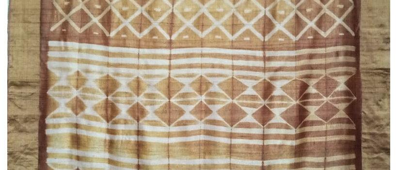 Mustred Shibori work silk Saree