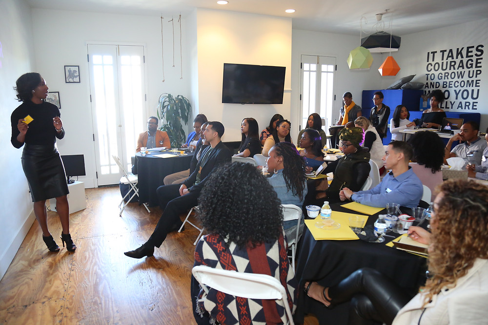 Presenting at the #SuccessfulSeventeen goal-setting brunch.