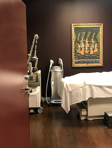 Laser Services treatment room