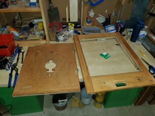 Bare Playfield Board and frame