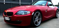 BMW Z4 Satin Vampire Red