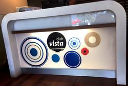 Club Vista Reception Perspex