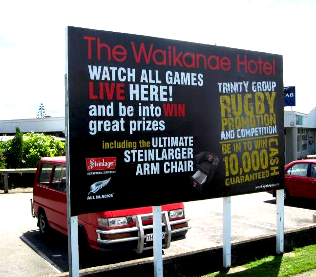 The Waikanae Hotel Event Sign