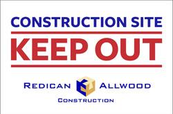 Custom Construction Corflute Sign