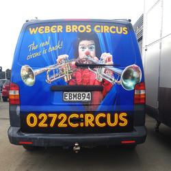 Weber Bros Circus back