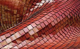 Twisted techo de tejas rojas