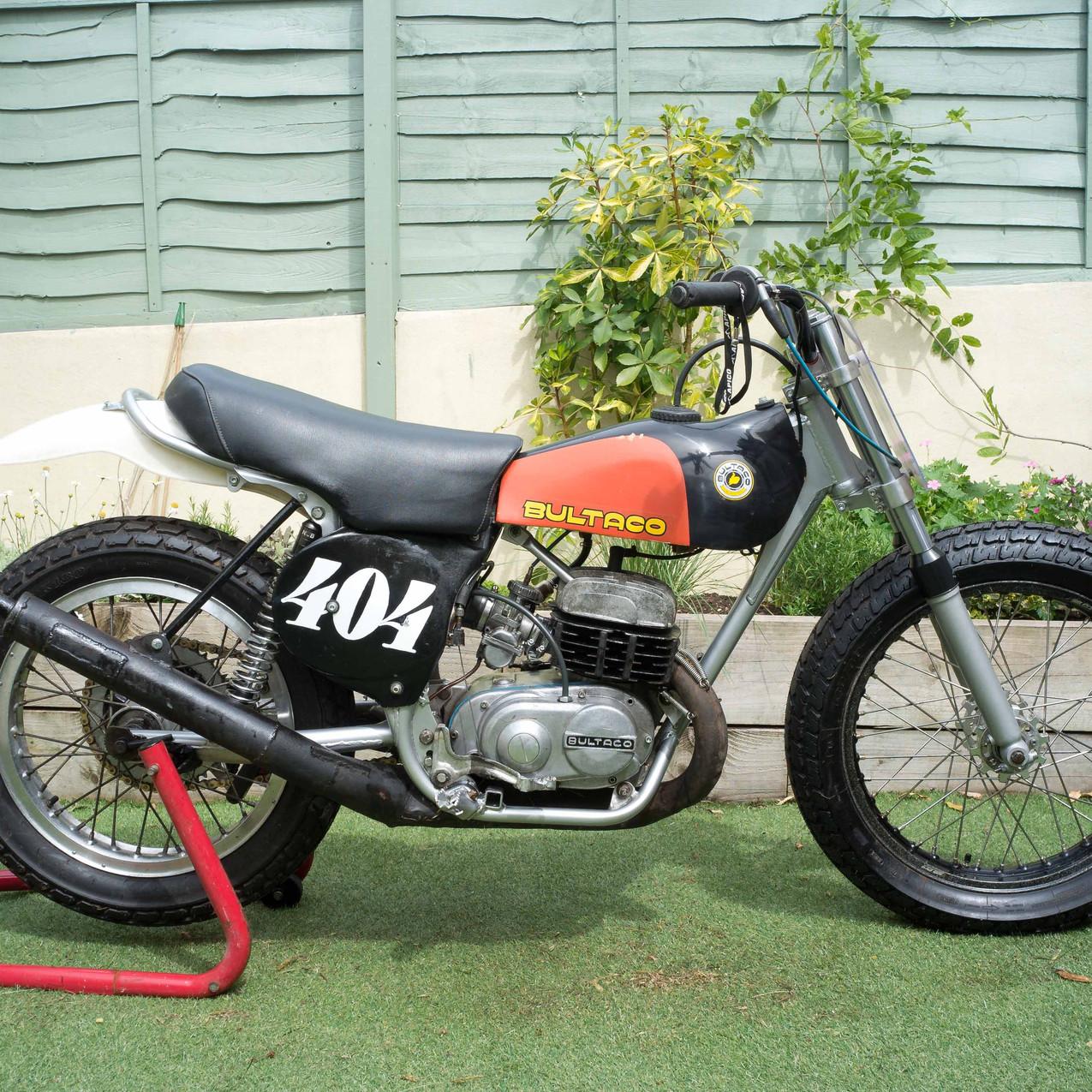 Sideburn Ben Eddings flat track Bultaco