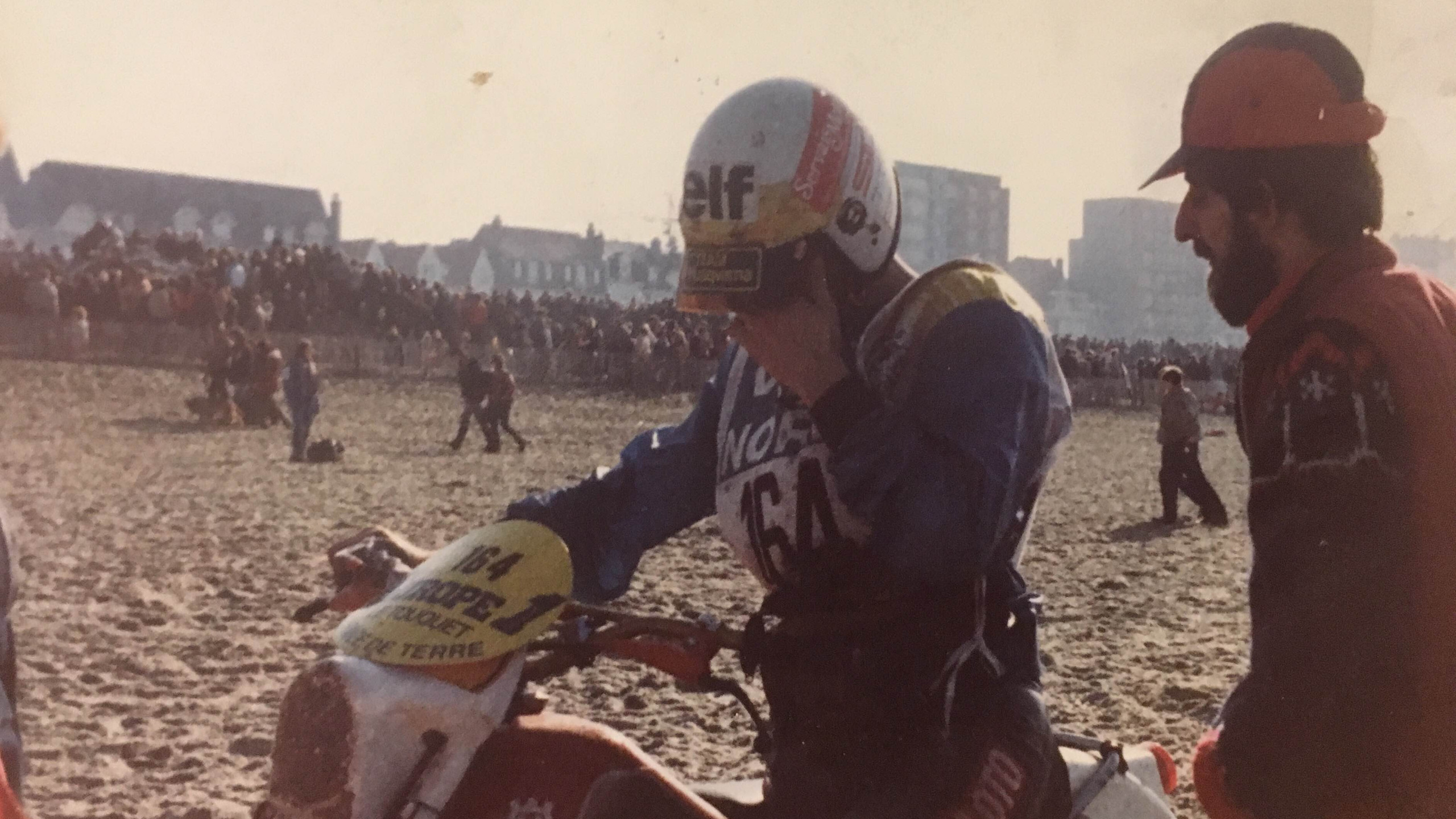 Broken shock at Le Touquet in 1981