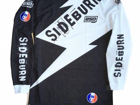 Sideburn x 250London B&W Race Shirt