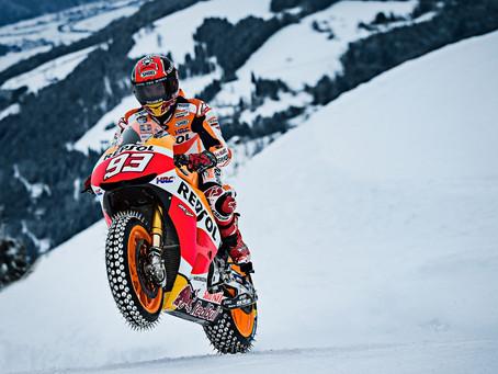 Marquez on Snow