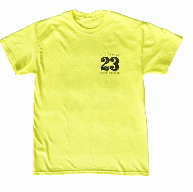 Jeffrey Carver Support T-shirt - Yellow front