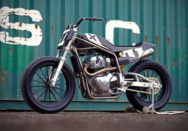 Sideburn Royal Enfield Harris Twin flat