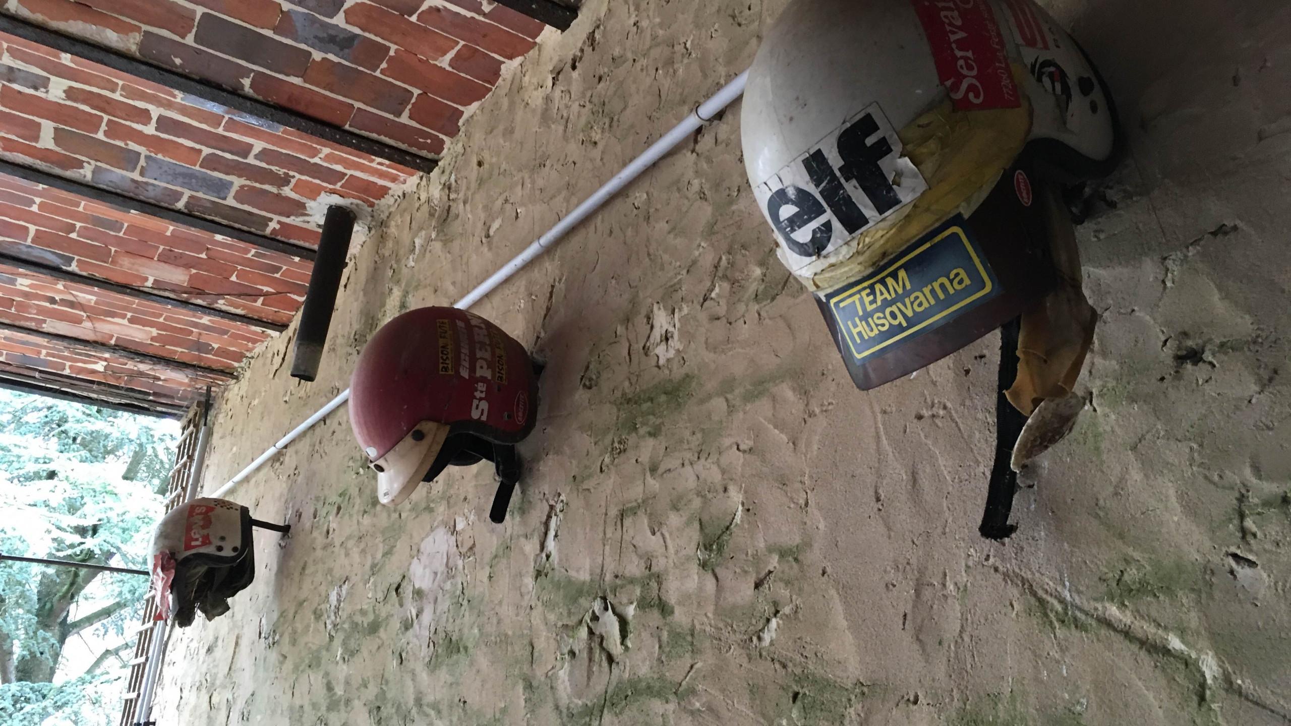 Helmets in the garage (1)