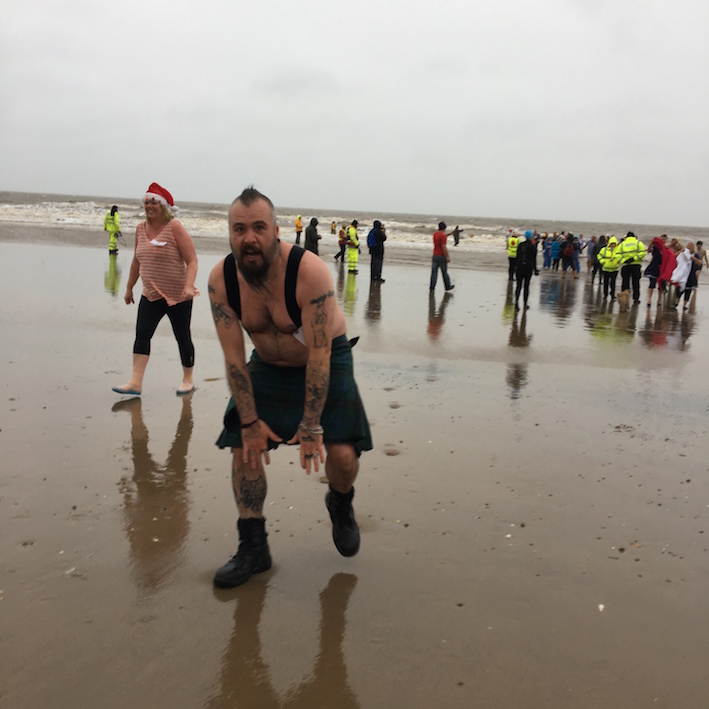 Sideburn Mablethorpe New Year swimmers 2