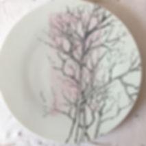 assiette extra plate décor fait main par Adrien Jarrige