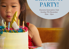Celebrate the 10th Birthday of Gymnastics Birthday Parties. It's going to be a 'Flipping' good day!
