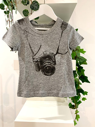 Camera tee. Size 2, still with tags.