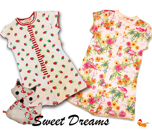 Flamingo Summer Pyjamas - Plum