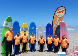 Kids surf lessons in Middleton with Kombi Surf