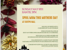 Spoil Mum this Mother's Day at Kuipto Hall 🌸