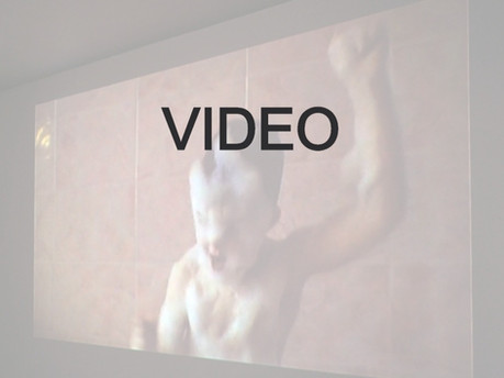 (et) L'ANGE N'EST PAS APPARU (Angelica Lidell, Anfaegtelse) (Lefils de la promesse)  Projection sur mur Dimensions  et formes variables selon contexte in situ  Durée 6 mn. Dimensions variables
